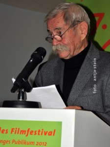 Rolf Losansky hält Laudatio beim Schlingel